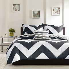 Mi Zone Pisces Reversible Chevron Duvet Cover Set