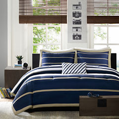 Mi Zone Garrett Striped Duvet Cover Set