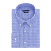 Van Heusen® Indigo Blue Plaid Dress Shirt - Slim Fit