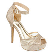 Bakers Steffanie Open-Toe Ankle-Strap Platform Pumps