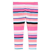 Okie Dokie Solid Cotton Leggings - Baby Girls