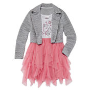 Knit Works Girls Long Sleeve Jacket Dress