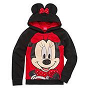 Girls Minnie Mouse Hoodie-Big Kid