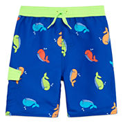Arizona Boys Whales Swim Trunks-Toddler