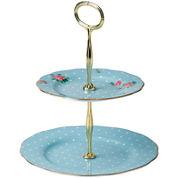 Royal Albert® Polka Blue Vintage 2-Tier Cake Stand