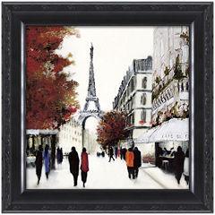 Paris Street Scene Framed Wall Art