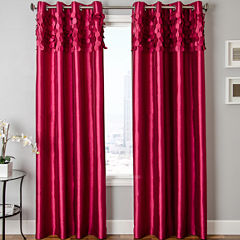 Lazio Faux-Silk Grommet-Top Curtain Panel