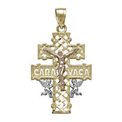Tesoro™ 14K Tri-Color Gold Caravaca Crucifix Pendant