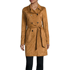 a.n.a® Belted Faux-Suede Trench Jacket