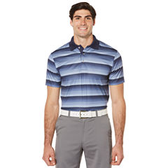 PGA TOUR Short Sleeve Stripe Doubleknit Polo Shirt