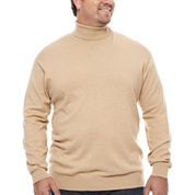 Claiborne Mock Neck Top Big and Tall