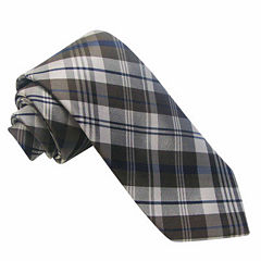 Stafford® Ecru Plaid Silk Tie