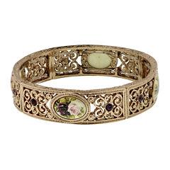 1928® Rose Gold-Tone Flower Stretch Bracelet