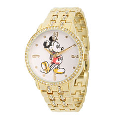 Disney Mickey Mouse Womens Cubic Zirconia Bracelet Watch