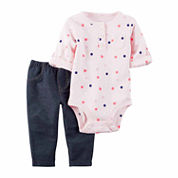 CARTER'S GIRLS BODYSUIT PANT SET