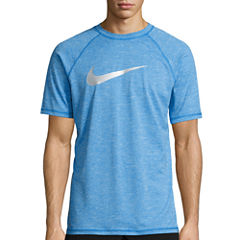 Nike Solid Heather Short Sleeve Swim Tee 40+ UPF Protection