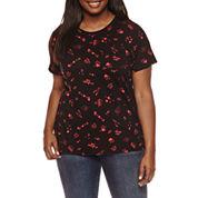 Arizona Hearts Graphic T-Shirt- Juniors Plus