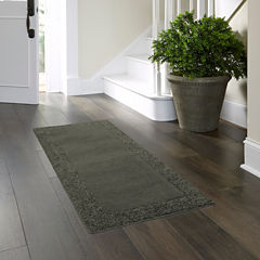 JCPenney Home™ Shag Border Washable Runner Rug