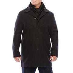 JF J. Ferrar® Double Knit-Collar Men's Jacket - Big & Tall