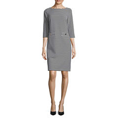 Jessica Howard 3/4 Sleeve Shift Dress