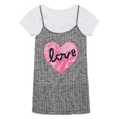 Total Girl Two-Piece Layered Tank Top and Tee - Girls' 7-16 and Plus