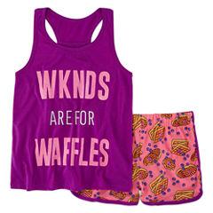 Total Girl 2-pc. Shorts Pajama Set Girls