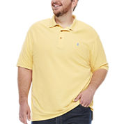 IZOD Short Sleeve Solid Polo Shirt- Big & Tall