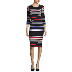 Belle + Sky 3.4 Sleeve Bodycon Dress