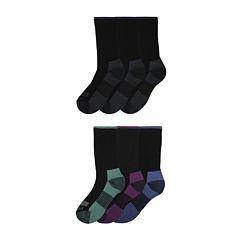Dickies® Womens 6-pk. Dri-Tech Comfort Crew Socks