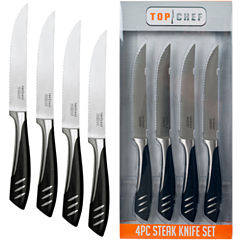 Top Chef® Set of 4 Stainless Steel Steak Knives