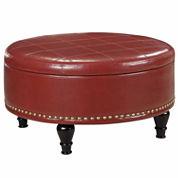 Augusta Storage Ottoman Bonded Leather