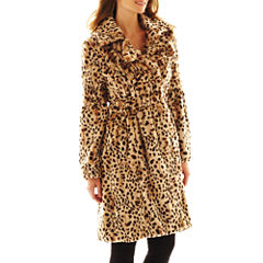Excelled Faux-Fur Swing Coat