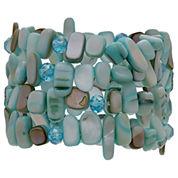Mixit Womens Aqua 4 Row Stretch Bracelet