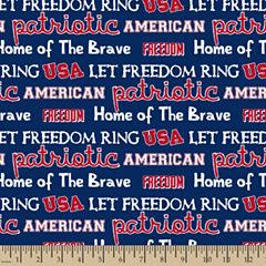 Patriotic Usa Cotton Fabric