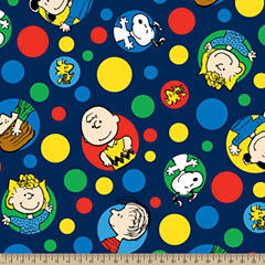Peanut Friends Dots Fleece Fabric By the Yard