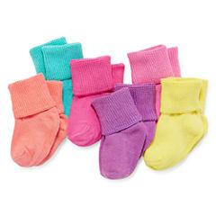 Okie Dokie® 6-pk Crew Socks - Baby Girls newborn-24m