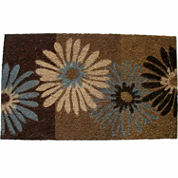 PVC Daisies Rectangular Doormat - 18