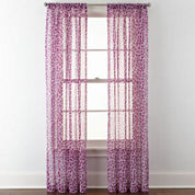 Home Expressions™ Purr Sheer Rod-Pocket Curtain Panel