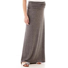 Maternity Knit Maxi Skirt - Plus