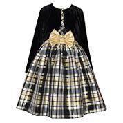 Bonnie Jean Long Sleeve Fit & Flare Dress - Big Kid