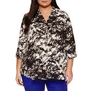 Worthington® 3/4 Sleeve v-Neck Tunic - Plus