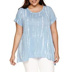 a.n.a Short Sleeve Round Neck T-Shirt-Plus