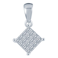 1/4 CT. T.W. Diamond 10K White Gold Pendant
