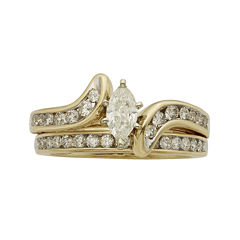 1 CT. T.W. Certified Diamond 14K Yellow-Gold Bridal Set
