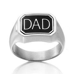 DC Comics® Stainless Steel Dad/Batman Reversible Ring