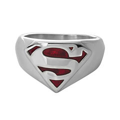 DC Comics® Stainless Steel Superman Ring