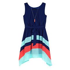 by&by girl Sleeveless Blouson Dress - Big Kid Girls Plus