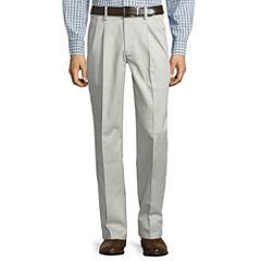 St. John's Bay® Stretch Iron Free Expandable Waist Pleat Pant