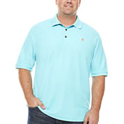 IZOD Short Sleeve Solid Advantage Pique Polo Shirt- Big & Tall
