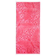 Outdoor Oasis Tahitian Butterfly Jacquad  Beach Towel